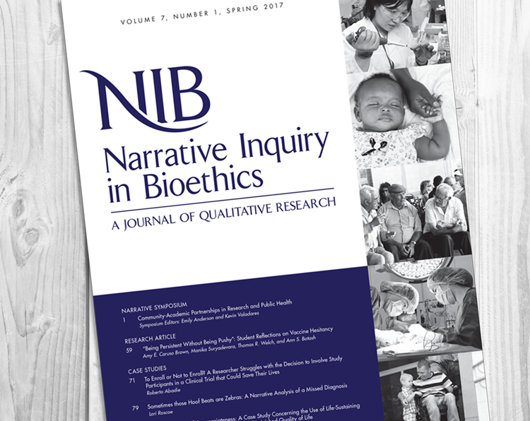 Narrative Inquiry in Bioethics NIB Journal About